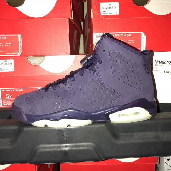 "ac3eadce015e2a Jordan Other - Air Jordan 6 Retro ""Purple Dynasty"" QS Size 4.5 GS"